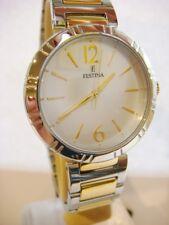 New Genuine Ladies FESTINA Watch quartz gold tone steel F16937/1