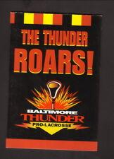 Baltimore Thunder--1999 Pocket Schedule--Hard Rock Cafe--NLL