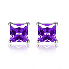 Fashion Rhinestone Crystal CZ Square Woman Ear Stud Earrings Weeding Jewelry