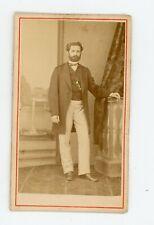 PHOTO CDV 1860. un homme pose Graziani Bastia CORSE