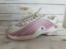 Etonic Womens Sz 8M E-Tech Bowling Shoes Laced White & Pink