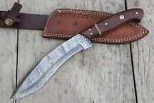 Damascus Steel Kukri Knife, Custom Handmade Damascus Steel Bowie Knife