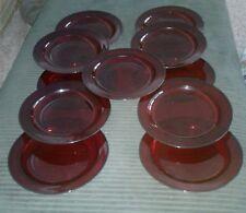 Luminarc salad plates red lot of 11