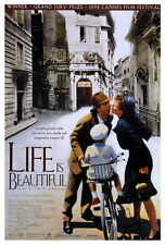 Life Is Beautiful Movie Poster 27x40 Roberto Benigni Nicoletta Braschi Giustino