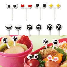 KIT Cute Eye Mini Food Fruit Picks Baby Kid Forks Bento Lunch Box Tool Tableware