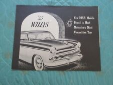 0815j  1955 Willys Custom & Bermuda sales brochure