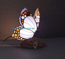 Purple Butterfly Lamp, Table Lamp, Tiffany Leadlight Lamp.