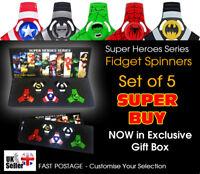 Avengers Fidget Finger Spinner Hulk Spiderman Batman Captain America - SET OF 5