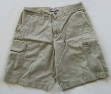 Columbia Mens Solid Beige Outdoor Hiking Casual Cargo Khaki Shorts Size 32