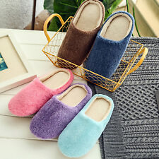 Women Slippers Slip On Plush Soft Winter Warm Ladies Home Indoor Shoes Non Slip