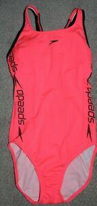 SPEEDO ENDURANCE womens neon pink one piece size 36 swimsuit NWOT