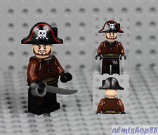 LEGO Pirates - Pirate Minifigure w/ Bicorne Hat Cutlass Jolly Roger Blackbeard X