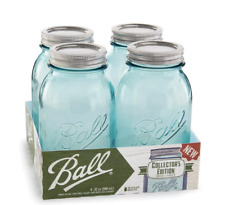 BALL  Collection Elite Color Series Regular Mouth Mason Jars - Blue 4 Pack