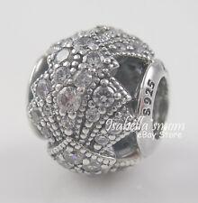 ORIENTAL FAN Genuine PANDORA Silver/Clear Zirconia Stones ORIGAMI Charm/Bead NEW