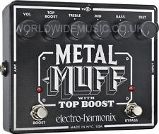EHX Electro Harmonix METAL MUFF Distortion avec top boost pédale d'effets guitare