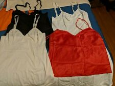 Lot Of 4 Vintage Nylon Camis/Half Slips/ Sz 34 Shadowline/Olga/Alright (Slip)
