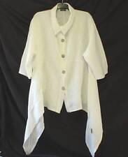 SARAH SANTOS LAGENLOOK Slouchy Quirky Dip Hem Oversize Summer Jacket Coat M