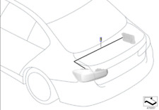 Genuine BMW Retrofit Cable Set For Conversion Rear Lights 61122410220
