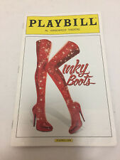 Kinky Boots Playbill 2014 Billy Porter Andy Kelso Broadway Musical