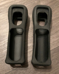 2 x Official Nintendo Wii Black Silicone Covers Good Condition