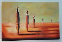 Tribal Surreal Landscape Oil 31.5x21