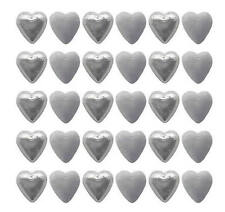 100 CADBURY CHOCOLATE WHITE AND SILVER HEARTS-WEDDING CHRISTMAS FAVOURS PARTIES