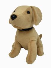 Gold Dog Soft Furry Doorstop