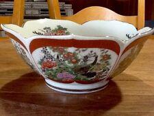Japanese Satsuma porcelain bowl with Bird & Floral Design