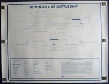 ROMULAN L-85 Ship Orig Blueprint STAR TREK NEXT GENERATION TV Movie Poster 1991
