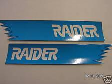 Vintage Raider Blue decal RH LH