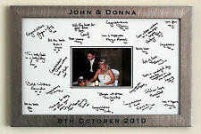 Engraved Personalised Framed Wedding Signature Signing Board - Guest Book