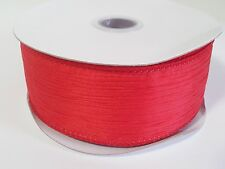 """1 1/2"""" Wire-Edged Polyester Crinkled Woven Ribbon - 10 Yards"""