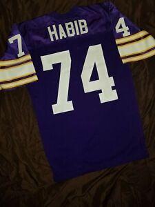 Authentic Brian Habib Minnesota Vikings NFL Jersey by Wilson sz 46