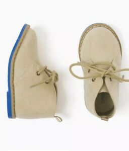 Gymboree Shoes Easter Tan Blue Dressy Boots Shoes Boys Church NWT Size 6
