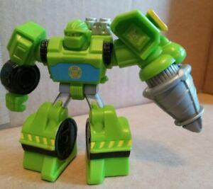 Playskool Transformers Rescue Bots Boulder Construction Drill autobot figure