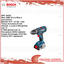 Bosch-B Perceuse 2 Batt. Gsb 18-2 Li Plus 18 V - 2,0 Ah - Lithium Art. 94262