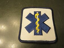 EMS - EMERGENCY MEDICAL FIRST RESPONDER PATCH - EMT TECHNICIAN - Star of Life