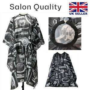 Professional Hairdressing Gown Hair Cutting Salon Barber Cape Unisex Apron in UK