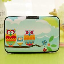 Printed Protecter Box Owl Women Card Bag Stylish