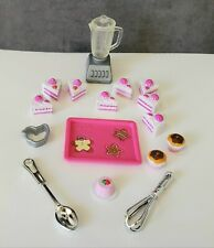 Barbie CAKE CUPCAKES TRAY WHISK BLENDER Little Accessories Food Baking Kitchen