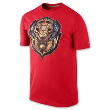 "Nike LeBron James ""Merit Badge"" Dri-Fit T-Shirt U Red Men's Large 2XL BNWT"