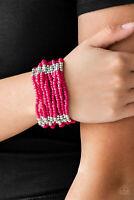 Paparazzi Jewelry Bracelet ~Outback Odyssey - Pink~NWT ~ Seed Beads - 1054