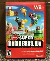 New Super Mario Bros Wii (Nintendo Wii) Complete w/ Manual - Clean & Tested