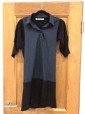 Wunderschöne Marni Navy Blau kurzarm Shirt Kleid Größe 38 guter Zustand