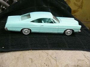 VINTAGE AMT 1967 baby blue FORD GALAXIE XL 428 ~ PROMO CAR