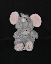 Peluche doudou ours gris ME TO YOU Blue Nose déguisement éléphant 15 cm TTBE