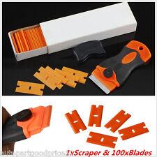 Plastic Razor Handle Scraper Paint/Glue/Adhesive Remover Tool with 100Pcs Blades
