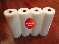 "4 HUGE 8"" x 50' Universal Vacuum Seal Rolls- Food & $$ Saver! FREE SHIP USA!"