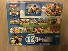 Paw Patrol Puzzle 12 Pack - Assortment of 24, 48,100 Piece Puzzles
