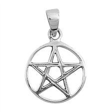 Plain Pentacle Star .925 Sterling Silver Pendant